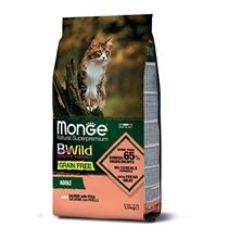 Monge Cat BWild Grain Free Adult Salmon Peas / Сухой Беззерновой корм Монж Бивайлд для Взрослых кошек Лосось горох