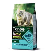 Monge Cat BWild Grain Free Adult Cod Fish Potatoes Lentils / Сухой Беззерновой корм Монж Бивайлд для Взрослых кошек Треска картофель чечевица