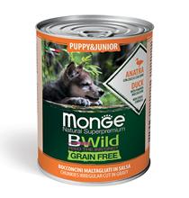 Monge Puppy Junior BWild Grainfree Duck / Консервы Беззерновые Монж для Щенков Утка тыква цукини (цена за упаковку)