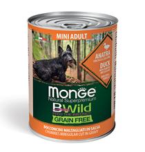 Monge Dog BWild Grainfree Adult Mini Duck / Консервы Беззерновые Монж для взрослых собак Мелких пород Утка тыква цукини (цена за упаковку)