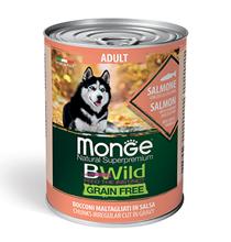 Monge Dog BWild Grainfree Adult Salmon / Консервы Беззерновые Монж для взрослых собак Лосось тыква цукини (цена за упаковку)