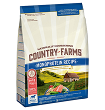 Country Farms Dog Adult Monoprotein recipe Salmon / Сухой Монопротеиновый полнорационный корм Кантри Фармз для взрослых собак с высоким содержанием Лосося
