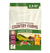 Country Farms Dog Adult Classic recipe Lamb / Сухой Классический полнорационный корм Кантри Фармз для взрослых собак с высоким содержанием Ягненка