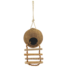 Triol / Домик Триол для птиц из Кокоса с лестницей