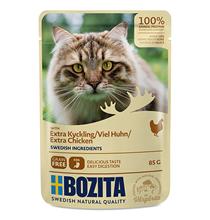 Bozita Extra chicken / Паучи Бозита для взрослых кошек кусочки в соусе Курица (цена за упаковку)