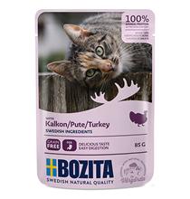 Bozita Turkey / Паучи Бозита для взрослых кошек кусочки в соусе Индейка (цена за упаковку)
