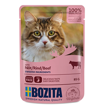 Bozita Beef / Паучи Бозита для взрослых кошек кусочки в соусе Говядина (цена за упаковку)