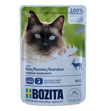 Bozita Reindeer / Паучи Бозита для взрослых кошек кусочки в соусе Оленина (цена за упаковку)