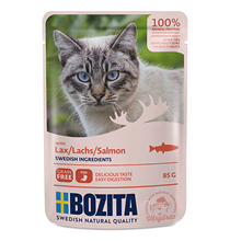 Bozita Salmon / Паучи Бозита для взрослых кошек кусочки в соусе Лосось (цена за упаковку)