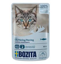 Bozita Herring / Паучи Бозита для взрослых кошек кусочки в соусе Сельдь (цена за упаковку)