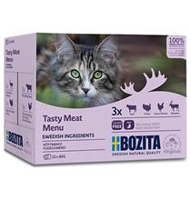Bozita Meat Multibox / Паучи Бозита для взрослых кошек кусочки в соусе Мясной микс (цена за упаковку)