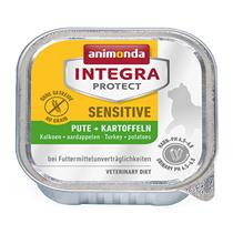 Animonda Integra Protect Sensitive / Ветеринарный влажный корм (консервы) Анимонда c индейкой и рисом для взрослых кошек при Пищевой Аллергии Индейка рис в банках (цена за упаковку)