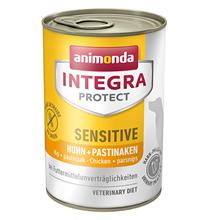 Animonda Integra Protect Sensitive / Ветеринарный влажный корм (консервы) Анимонда для взрослых собак при Пищевой Аллергии Курица пастернак в банках (цена за упаковку)