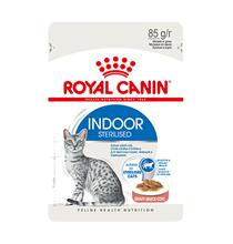 Royal Canin Indoor / Влажный корм (Консервы-Паучи) Роял Канин Индор для Стерилизованных кошек Живущих в помещении в Соусе (цена за упаковку)