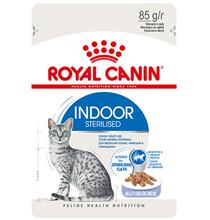 Royal Canin Indoor / Влажный корм (Консервы-Паучи) Роял Канин Индор для Стерилизованных кошек Живущих в помещении в Желе (цена за упаковку)