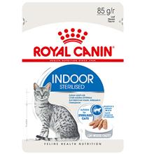 Royal Canin Indoor / Влажный корм (Консервы-Паучи) Роял Канин Индор для Стерилизованных кошек Живущих в помещении Паштет (цена за упаковку)