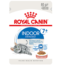 Royal Canin Indoor 7+ / Влажный корм (Консервы-Паучи) Роял Канин Индор для Стерилизованных Пожилых кошек старше 7 лет Живущих в помещении в Соусе (цена за упаковку)