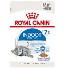 Royal Canin Indoor 7+ / Влажный корм (Консервы-Паучи) Роял Канин Индор для Стерилизованных Пожилых кошек старше 7 лет Живущих в помещении в Желе (цена за упаковку)