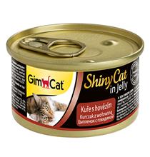 GimCat ShinyCat / Консервы Джимкэт для кошек Цыпленок с говядиной (цена за упаковку)