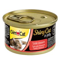 GimCat ShinyCat / Консервы Джимкэт для кошек Тунец с лососем (цена за упаковку)