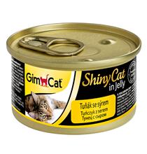 GimCat ShinyCat / Консервы Джимкэт для кошек Тунец с сыром (цена за упаковку)