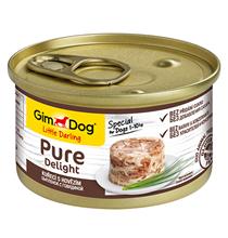 GimDog Pure Delight / Консервы Джимдог для собак Цыпленок с говядиной (цена за упаковку)