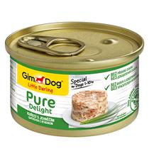 GimDog Pure Delight / Консервы Джимдог для собак Цыпленок с ягненком (цена за упаковку)