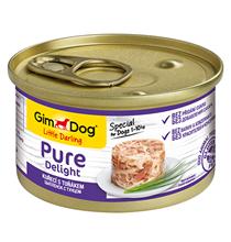 GimDog Pure Delight / Консервы Джимдог для собак Цыпленок с тунцом (цена за упаковку)