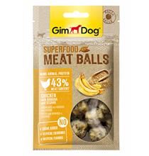 GimDog Superfood Meat Balls Chicken Banana Sesame / Лакомство Джимдог для собак Мясные шарики Курица банан кунжут