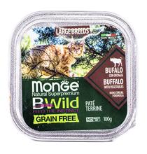 Monge Cat BWild Grain Free Large Breed Buffalo Pate / Влажный Беззерновой корм Монж для кошек Крупных пород Паштет из Буйвола с овощами (цена за упаковку)