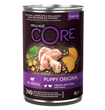 Wellness Core Puppy All Breeds Original Chicken Turkey / Консервы Велнес Кор для Щенков всех пород Курица индейка тыква (цена за упаковку)