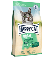 Happy Cat Minkas Perfect Mix Geflugel Lamm & Fisch / Сухой корм Хэппи Кэт для кошек с Птицей, Ягненком и Рыбой