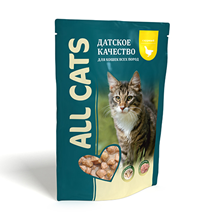 All Cats / Паучи Ол Кэтс для кошек Курица в соусе (цена за упаковку)