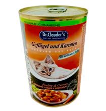 Dr Clauder Кусочки в соусе с Домашней птицей и Морковью / Консервы Доктор Клаудер для кошек (цена за упаковку)