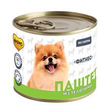 Мнямс Фитнес Влажный корм Консервы для собак всех пород Паштет из Телятины для собак всех пород (цена за упаковку)