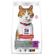 Hills Science Plan Sterilised Cat / Cухой корм Хиллс для Стерилизованных кошек и Котят от 6 месяцев Утка