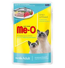 Заказать Me-O Cat Adult Tuna Chicken Jelly / Паучи для взрослых кошек Тунец и Курица в желе Цена за упаковку по цене 570 руб