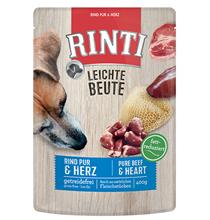 Rinti Leichte Beute Rind Pur & Herz / Паучи Ринти для собак Говядина Птичьи сердечки (цена за упаковку)