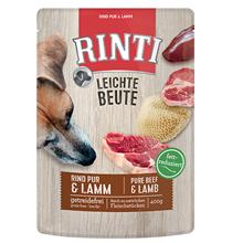 Rinti Leichte Beute Rind Pur & Lamm / Паучи Ринти для собак Говядина Ягненок (цена за упаковку)