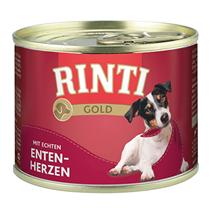 Rinti Gold Entenherzen / Консервы Ринти для собак Утиные сердечки (цена за упаковку)