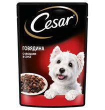 Cesar / Паучи Цезарь для собак Говядина и овощи (цена за упаковку)