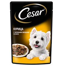 Cesar / Паучи Цезарь для собак Курица и зелёные овощи (цена за упаковку)