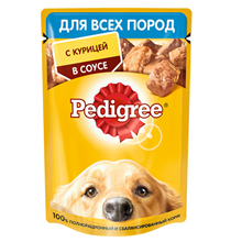 Pedigree / Паучи Педигри для взрослых собак всех пород с Курицей в соусе (цена за упаковку)