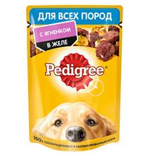 Pedigree / Паучи Педигри для взрослых собак всех пород с Ягненком в желе (цена за упаковку)