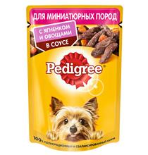 Pedigree / Паучи Педигри для взрослых cобак Миниатюрных пород с Ягненком и овощами в соусе (цена за упаковку)