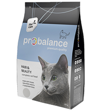 Probalance Hair&Beauty / Корм Пробаланс для взрослых кошек Красивая шерсть и Здоровая кожа