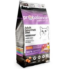 Probalance Gourmet Diet / Корм Пробаланс для взрослых кошек Говядина Кролик