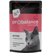 Probalance Active / Паучи Пробаланс для Активных кошек (цена за упаковку)