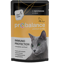 Probalance Immuno Protection / Паучи Пробаланс для кошек с Кроликом в соусе (цена за упаковку)