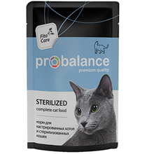 Probalance Sterilized / Паучи Пробаланс для Стерилизованных кошек и Кастрированных котов (цена за упаковку)